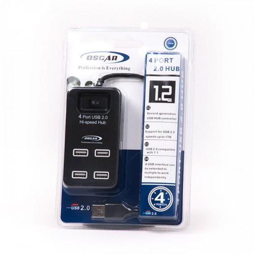 هاب HUB USB2 4PORT OS-H160 OSCAR